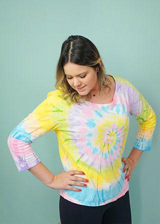 T-shirt Adulto Tie Dye Neon