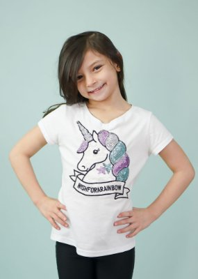 T-shirt Infantil Unicórnio Branca