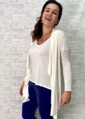 Easy kit Adulto Cardigan + T-Shirt Off White