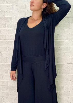 Easy kit Adulto Cardigan + T-Shirt Preto