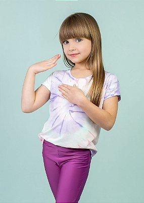 T-shirt Em Visco Infantil Tie Dye Candy