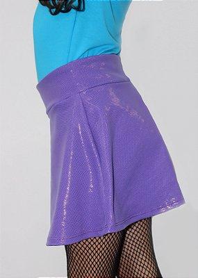 Shorts Saia Roxo Brilhante