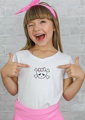 T-Shirt Branca Caveira