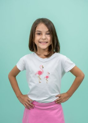 T-shirt Infantil Flamingo