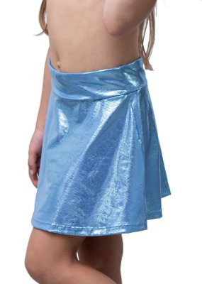 Shorts Saia Infantil Blue Mermeid
