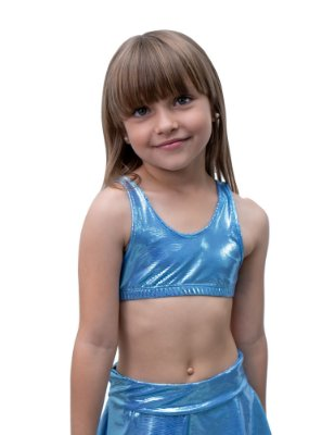 Top Infantil Blue Mermeid