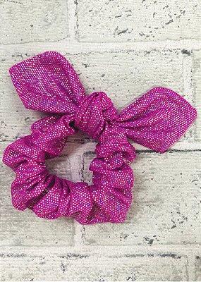 Scrunchie Pink Brilho Furta Cor