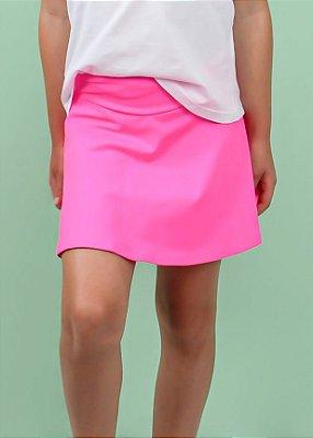 Shorts Saia Infantil Pink Rosa Neon