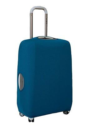 Capa Protetora Para Mala Azul Turquesa com Tecido Diferenciado
