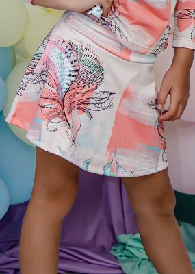 Shorts Saia Infantil Tropical