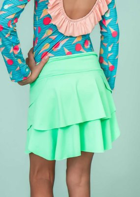 Shorts Saia Em Camadas Limão