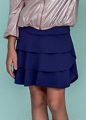 Shorts Saia Em Camadas Marinho