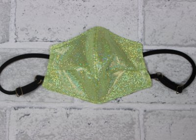 Máscara Infantil Verde Mint Brilhante