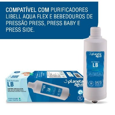 Refil lb compatível com Purificadores LIBELL AcquaFlex, Press, Press Baby e Press Side