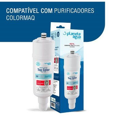 Refil Colormaq Top Color 1075 Compativel Planeta agua