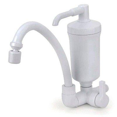 torneira Branca com filtro Bica Giratória com arejador 1/4v Hidro filtro