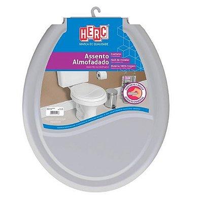 Assento Tampa Vaso Sanitário Almofadado Prime Cinza Cl  Herc