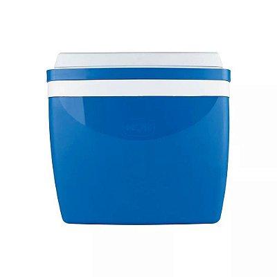 Caixa Térmica 26 Litros Azul Com Alça Mor