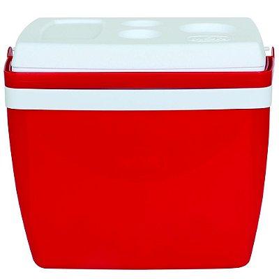 Caixa Térmica 26 Litros Vermelho Com Alça Mor