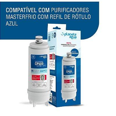 Kit 2 Refil Cp500 P/ Purificador Master Frio Rótulo Azul - 1080
