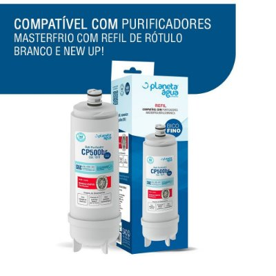 Kit 2 Refil Cp500br P/ Purificador Masterfrio E Newmaq New.up