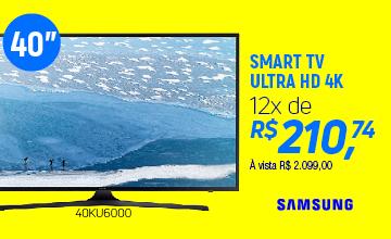 "Samsung Smart TV  40"" UHD 4K Flat KU6000 Series 6 - UN40KU6000GXZD"