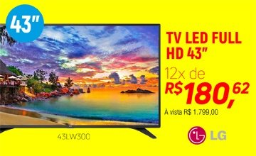 "LG LED 43"" HD USB HDMI- 43LW300C"