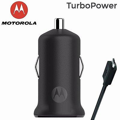 Carregador Veicular Motorola Micro Usb Turbopower 15w