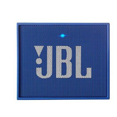 Caixa de Som Bluetooth JBL Go Azul Bateria Recarregável Viva-Voz