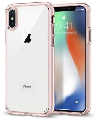 CAPA IPHONE X ULTRA HYBRID ROSE CRYSTAL SPIGEN