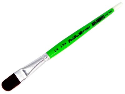 Pincel 134 Filbert (Língua de Gato) Sintético Marrom (Pinctore/TIGRE)