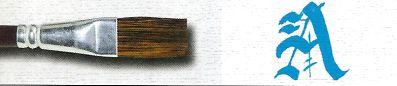 Pincel 189 Achatado Longo Pelo de Orelha de Boi, Cabo Curto (Pinctore/TIGRE)