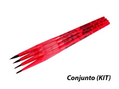 Kit Escolar Guache 6222 - 4 pincéis (Pinctore/TIGRE)