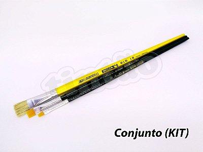 Kit para Pintura Acrílica 6237 - 3 pincéis (TIGRE)