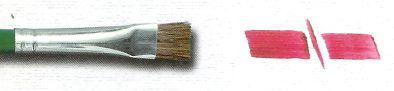Pincel 183 Orelha de Boi Chato Pelo Curto, Cabo Longo (TIGRE)