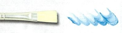 Pincel Cerda Branca Alvejada e Longa, Cabo Extra Longo Ref. 365 (Marsel/TIGRE)