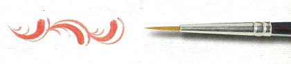 Pincel 485 Redondo Sintético Acetinado, Cabo Curto (Rodin/TIGRE)