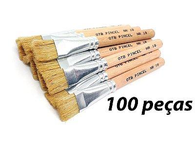 Pacote c/ 100 Pincéis Ref. 8008 nº18 Cabo Curto (OTB/TIGRE)