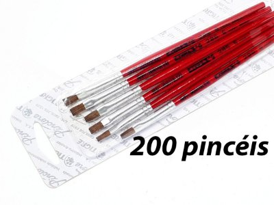 Pacote c/ 200 Pincéis Artísticos Ref. 286 nº6 (TIGRE)