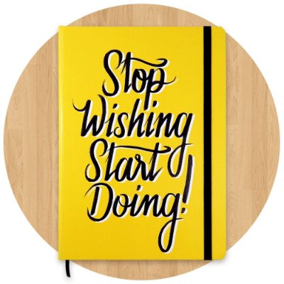 Sketchbook Stop Wishing Start Doing! - Grande