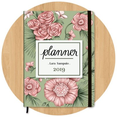 Planner 2019 Rosadas - Personalizado c/ Nome