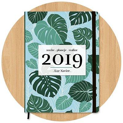 Planner 2019 Folhagem - Personalizado c/ Nome
