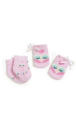 Kit meias e luvas Puket recém-nascido
