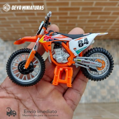 Miniatura KTM 450 SX-F Factory Edition 2018 Bburago 1:18