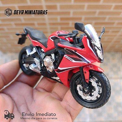 Miniatura Honda CBR 650F 2018 Welly 1:18