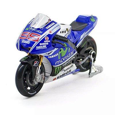 Miniatura MotoGp Yamaha YZF-M1 Jorge Lorenzo 99 Temporada 2014  Maisto 1:18