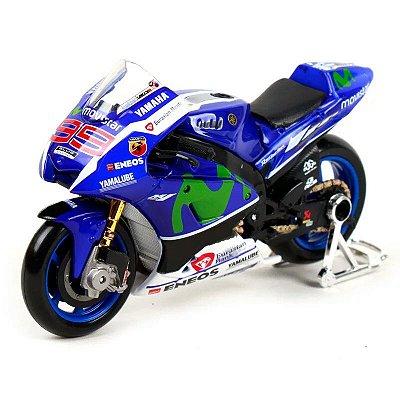 Miniatura MotoGp Yamaha YZF-M1 Jorge Lorenzo 99 Temporada 2016 Maisto 1:18
