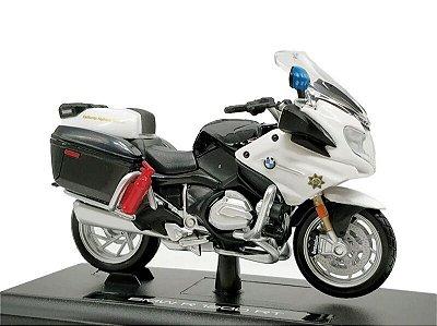 Miniatura BMW R 1200 RT 2016 Polícia Califórnia Maisto Desing 1:18