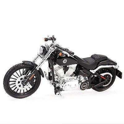 Miniatura Harley Davidson Breakout 2016 Preto Maisto 1:18 Series 35