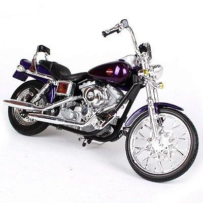 Miniatura Harley Davidson Wide Glide Dyna FXDWG 2001 Maisto 1:18